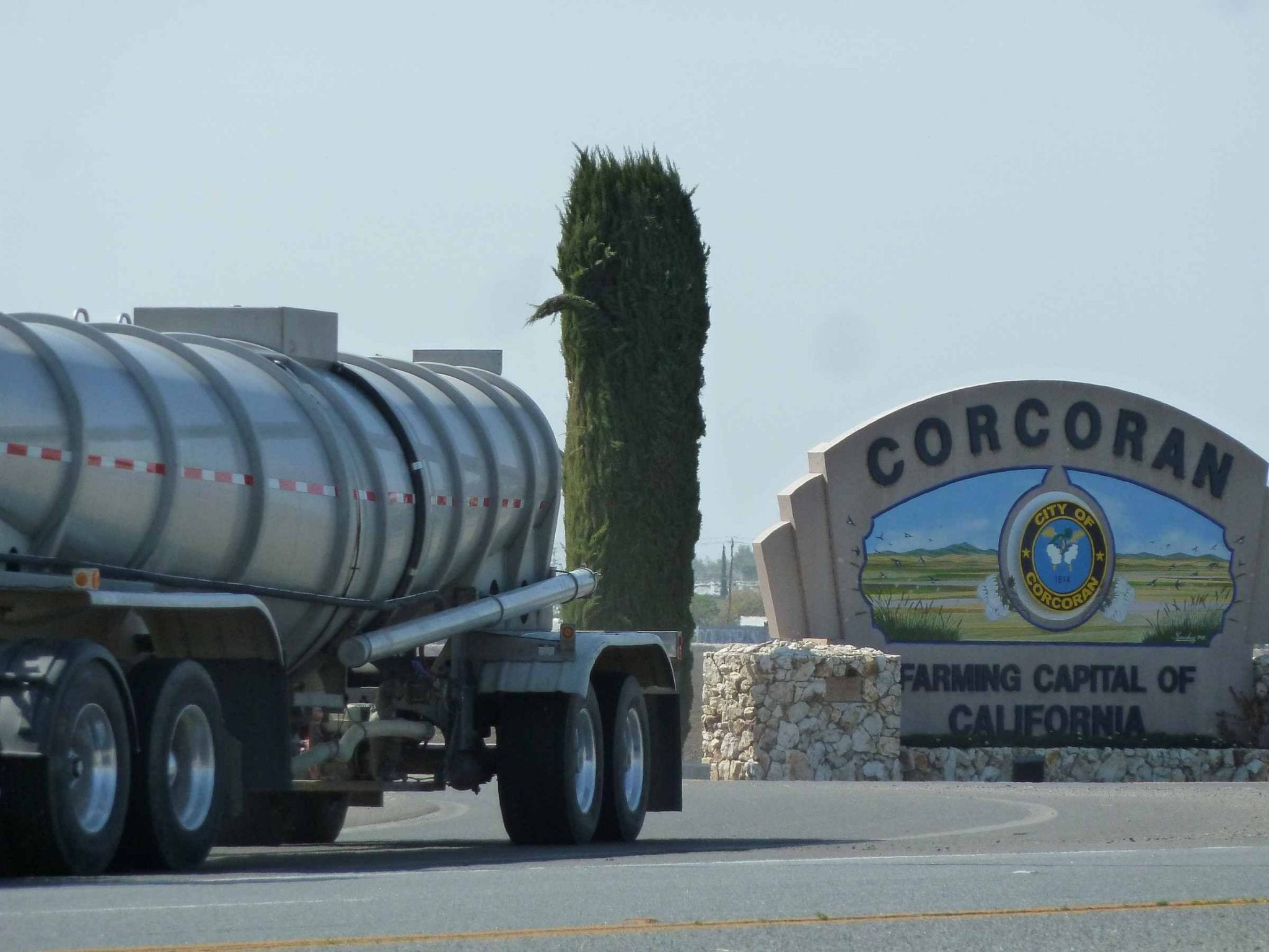 Corcoran, CA is sinking